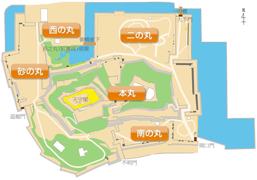 和歌山城看板マップ