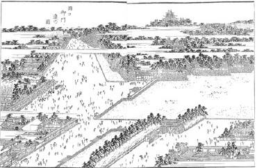 『紀伊国名所図会』「岡口御門辺の図」