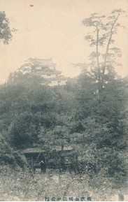 「三年坂門(不明門)」絵ハガキ