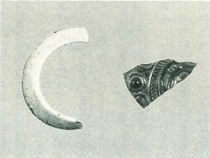 滝ヶ峯遺跡 貝輪と漢鏡