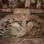 加太春日神社本殿 迦陵頻伽(蟇股の彫刻)