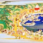 東照宮縁起絵巻 二十八段 和歌祭 出島付近