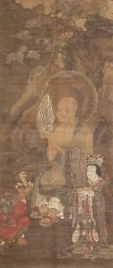絹本著色十六羅漢像 第8幅