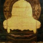 絹本著色釈迦三尊像 釈迦如来坐像