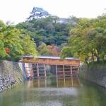 和歌山城 西之丸庭園 内堀と御橋廊下