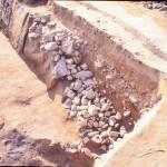 茶臼山古墳 後円部の葺石
