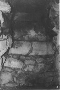 奥出古墳 横穴式石室(奥壁)