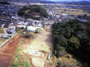 坂田遺跡 全景(西から)