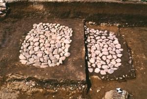 西庄遺跡 石敷製塩炉
