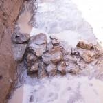 釜山古墳 外堤の葺石