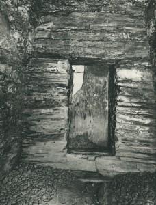 将軍塚古墳 前壁と玄門閉塞石